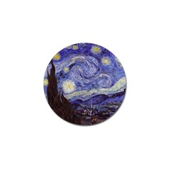 Vincent Van Gogh Starry Night Golf Ball Marker 4 Pack
