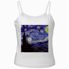 Vincent Van Gogh Starry Night White Spaghetti Top