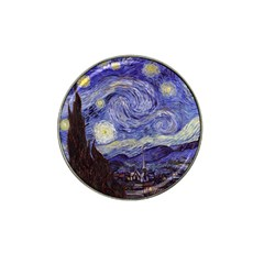 Vincent Van Gogh Starry Night Golf Ball Marker 4 Pack (for Hat Clip)