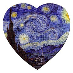 Vincent Van Gogh Starry Night Jigsaw Puzzle (Heart)