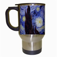 Vincent Van Gogh Starry Night Travel Mug (White)
