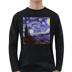 Vincent Van Gogh Starry Night Mens' Long Sleeve T-shirt (Dark Colored)