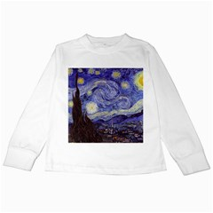 Vincent Van Gogh Starry Night Kids Long Sleeve T-Shirt