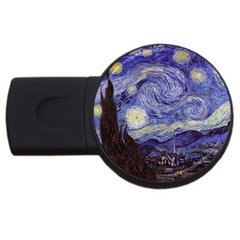 Vincent Van Gogh Starry Night 4GB USB Flash Drive (Round)