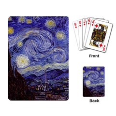 Vincent Van Gogh Starry Night Playing Cards Single Design