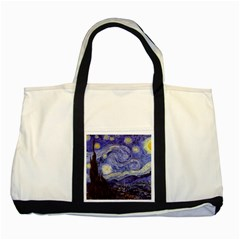 Vincent Van Gogh Starry Night Two Toned Tote Bag