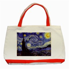Vincent Van Gogh Starry Night Classic Tote Bag (Red)