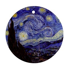 Vincent Van Gogh Starry Night Round Ornament (Two Sides)