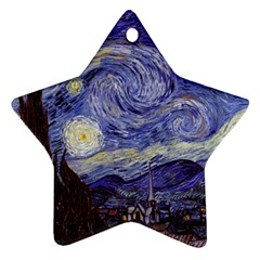 Vincent Van Gogh Starry Night Star Ornament (Two Sides)
