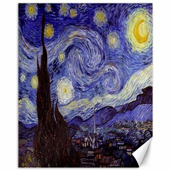 Vincent Van Gogh Starry Night Canvas 16  x 20  (Unframed)