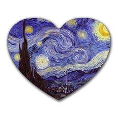 Vincent Van Gogh Starry Night Mouse Pad (heart)