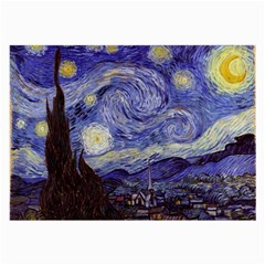 Vincent Van Gogh Starry Night Glasses Cloth (large, Two Sided)