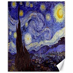 Vincent Van Gogh Starry Night Canvas 11  x 14  (Unframed)