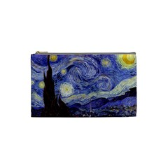 Vincent Van Gogh Starry Night Cosmetic Bag (Small)