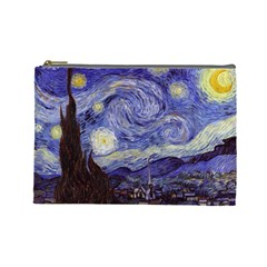 Vincent Van Gogh Starry Night Cosmetic Bag (Large)