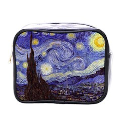 Vincent Van Gogh Starry Night Mini Travel Toiletry Bag (one Side)