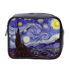 Vincent Van Gogh Starry Night Mini Travel Toiletry Bag (Two Sides)