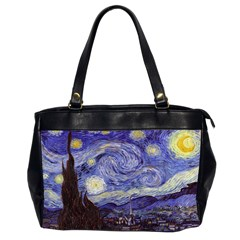 Vincent Van Gogh Starry Night Oversize Office Handbag (Two Sides)