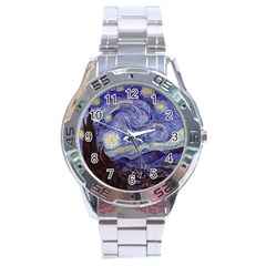 Vincent Van Gogh Starry Night Stainless Steel Watch