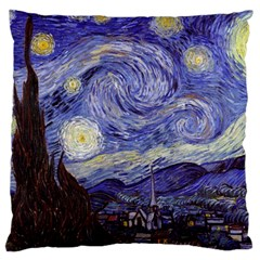 Vincent Van Gogh Starry Night Large Cushion Case (Two Sided)