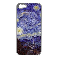 Vincent Van Gogh Starry Night Apple iPhone 5 Case (Silver)