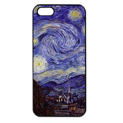 Vincent Van Gogh Starry Night Apple Iphone 5 Seamless Case (black)