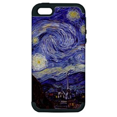 Vincent Van Gogh Starry Night Apple iPhone 5 Hardshell Case (PC+Silicone)