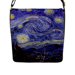 Vincent Van Gogh Starry Night Flap Closure Messenger Bag (Large)