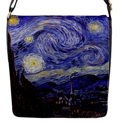 Vincent Van Gogh Starry Night Flap Closure Messenger Bag (Small)