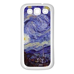 Vincent Van Gogh Starry Night Samsung Galaxy S3 Back Case (White)