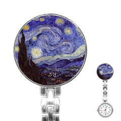 Vincent Van Gogh Starry Night Stainless Steel Nurses Watch