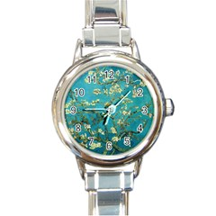 Vincent Van Gogh Blossoming Almond Tree Round Italian Charm Watch