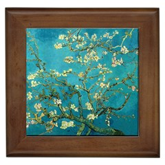 Vincent Van Gogh Blossoming Almond Tree Framed Ceramic Tile