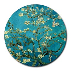 Vincent Van Gogh Blossoming Almond Tree 8  Mouse Pad (Round)