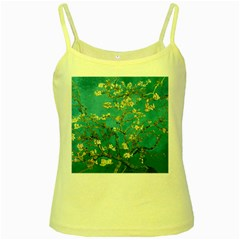 Vincent Van Gogh Blossoming Almond Tree Yellow Spaghetti Tank