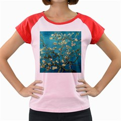 Vincent Van Gogh Blossoming Almond Tree Women s Cap Sleeve T-Shirt (Colored)