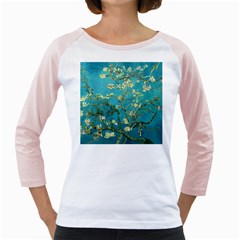 Vincent Van Gogh Blossoming Almond Tree Women s Long Cap Sleeve T-Shirt (White)