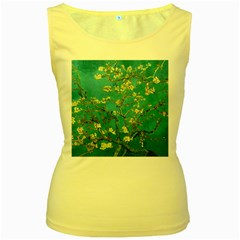 Vincent Van Gogh Blossoming Almond Tree Womens  Tank Top (Yellow)