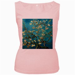 Vincent Van Gogh Blossoming Almond Tree Womens  Tank Top (Pink)