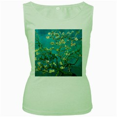 Vincent Van Gogh Blossoming Almond Tree Womens  Tank Top (Green)