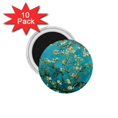 Vincent Van Gogh Blossoming Almond Tree 1.75  Button Magnet (10 pack)