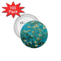 Vincent Van Gogh Blossoming Almond Tree 1.75  Button (100 pack)
