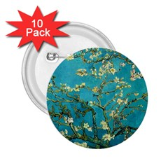 Vincent Van Gogh Blossoming Almond Tree 2.25  Button (10 pack)