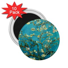 Vincent Van Gogh Blossoming Almond Tree 2.25  Button Magnet (10 pack)