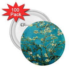 Vincent Van Gogh Blossoming Almond Tree 2.25  Button (100 pack)