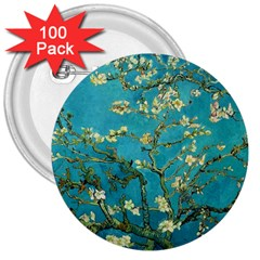 Vincent Van Gogh Blossoming Almond Tree 3  Button (100 pack)