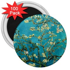 Vincent Van Gogh Blossoming Almond Tree 3  Button Magnet (100 Pack)