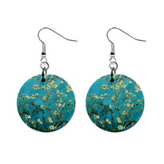 Vincent Van Gogh Blossoming Almond Tree Mini Button Earrings