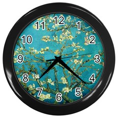Vincent Van Gogh Blossoming Almond Tree Wall Clock (Black)