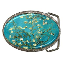 Vincent Van Gogh Blossoming Almond Tree Belt Buckle (oval)